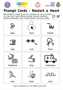 Download: Makaton Prompt Cards - Restart a Heart