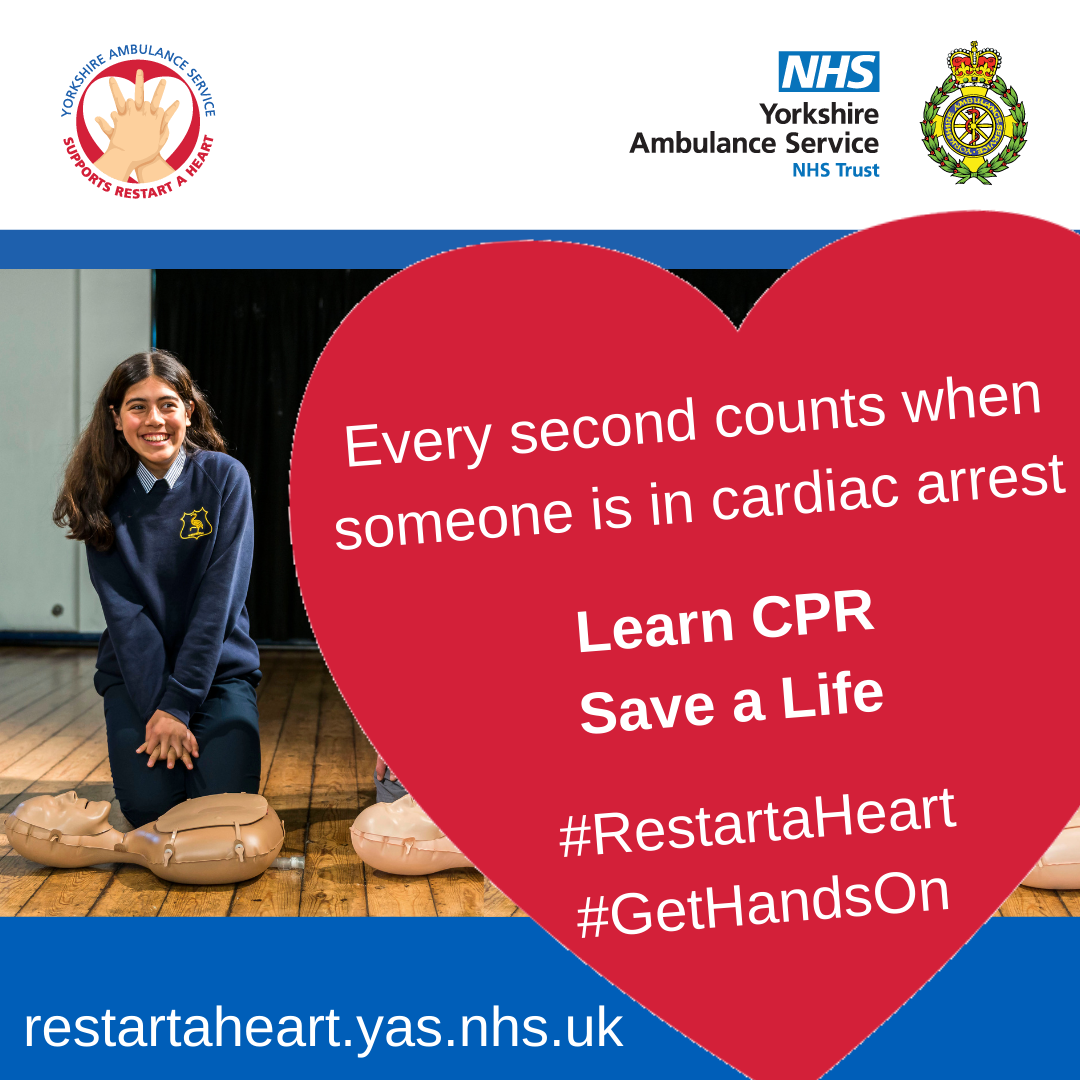 Download: Every second counts when someone is in cardiac arrest poster